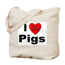 I Love Pigs for Pig and Hog Lovers Tote Bag