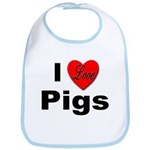 I Love Pigs for Pig and Hog Lovers Bib