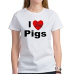 I Love Pigs (Front) Women's T-Shirt