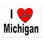 I Love Michigan Small Poster