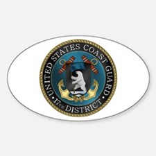17th District USCG Oval Decal