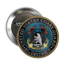 """17th District USCG 2.25"""" Button"""