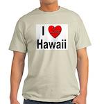 I Love Hawaii (Front) Ash Grey T-Shirt
