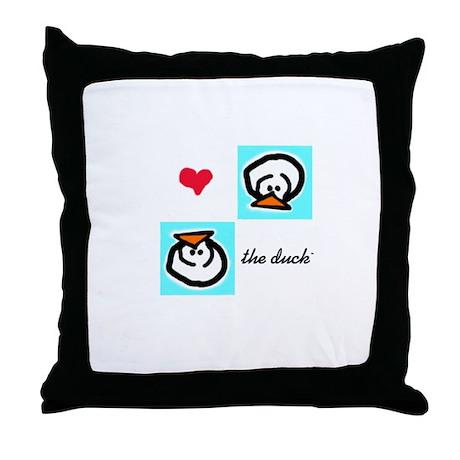 Love the Duck Throw Pillow