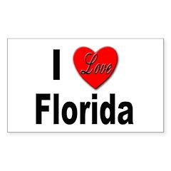 I Love Florida Rectangle Decal