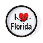 I Love Florida Wall Clock
