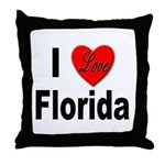 I Love Florida Throw Pillow