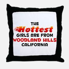 Hot Girls: Woodland Hil, CA Throw Pillow