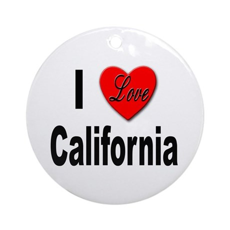 I Love California Keepsake (Round)