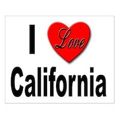 I Love California Posters