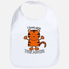 Love You This Much Tiger Bib
