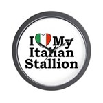 I Love My Italian Stallion Wall Clock