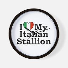 I Love My Italian Stallion Wall Clock