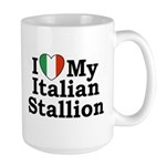 I Love My Italian Stallion Large Mug
