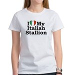 I Love My Italian Stallion Women's T-Shirt