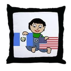 Guatemala Boy Throw Pillow