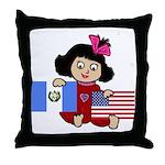 Guatemala Girl Throw Pillow
