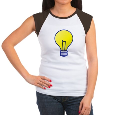Bright Idea Light Bulb Women's Cap Sleeve T-Shirt
