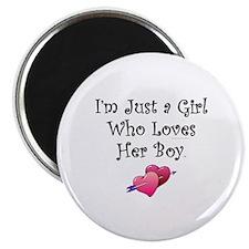 """Valentine Girl 2.25"""" Magnet (10 pack)"""