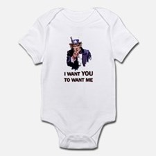 I WANT YOU TO WANT ME Infant Bodysuit