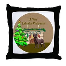 A Very Labrador Christmas Throw Pillow