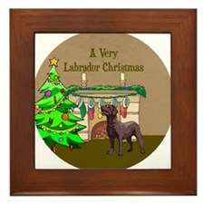 A Very Labrador Christmas Framed Tile