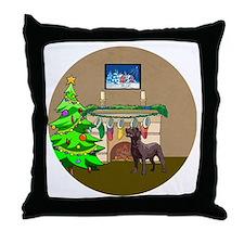 Labrador Christmas Throw Pillow