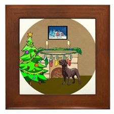 Labrador Christmas Framed Tile