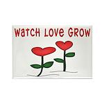 Watch Love Grow Rectangle Magnet