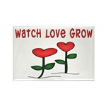 Watch Love Grow Rectangle Magnet (100 pack)