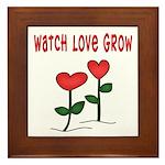 Watch Love Grow Framed Tile