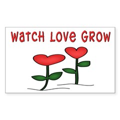 Watch Love Grow Rectangle Decal