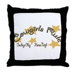 Cowgirls Rule Cowboy's Obey Throw Pillow