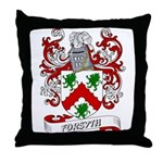 Forsyth Coat of Arms Throw Pillow