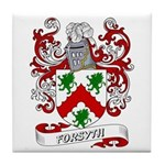 Forsyth Coat of Arms Tile Coaster