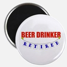 "Retired Beer Drinker 2.25"" Magnet (10 pack)"