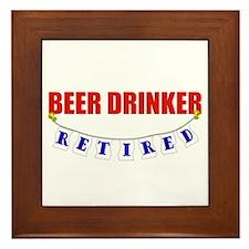 Retired Beer Drinker Framed Tile