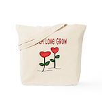 Watch Love Grow Tote Bag