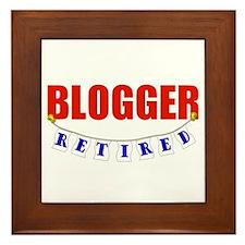 Retired Blogger Framed Tile