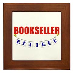 Retired Bookseller Framed Tile