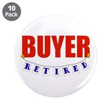 """Retired Buyer 3.5"""" Button (10 pack)"""