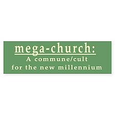 Mega-Church Cult Commune Bumper Bumper Stickers