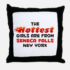 Hot Girls: Seneca Falls, NY Throw Pillow