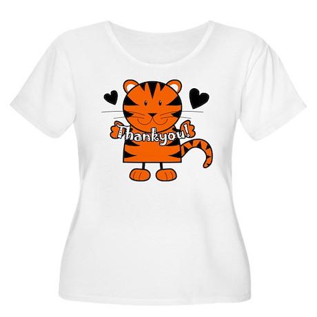 Tiger Thankyou Women's Plus Size Scoop Neck T-Shir