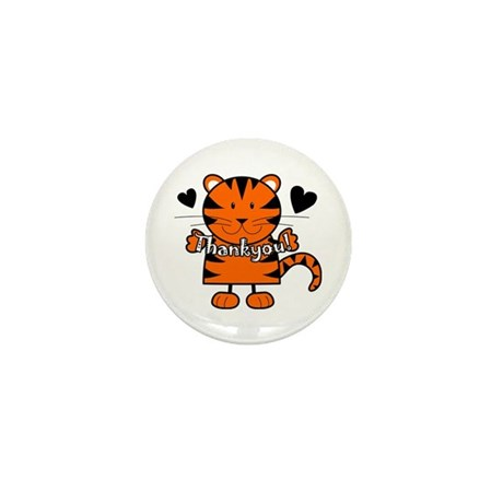 Tiger Thankyou Mini Button