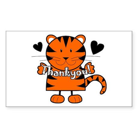 Tiger Thankyou Rectangle Sticker