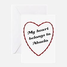 My Heart Belongs to Abuelo Greeting Card