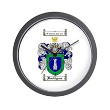 Rodriguez Coat of Arms Wall Clock
