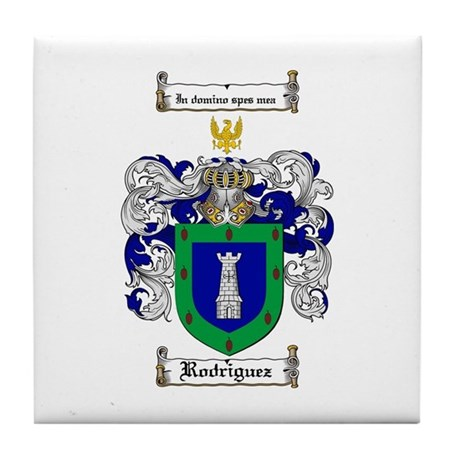 Rodriguez Coat of Arms Tile Coaster