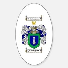 Rodriguez Coat of Arms Oval Decal